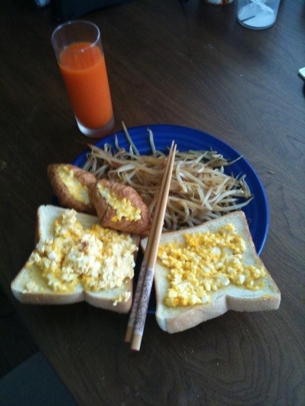 男の朝食!
